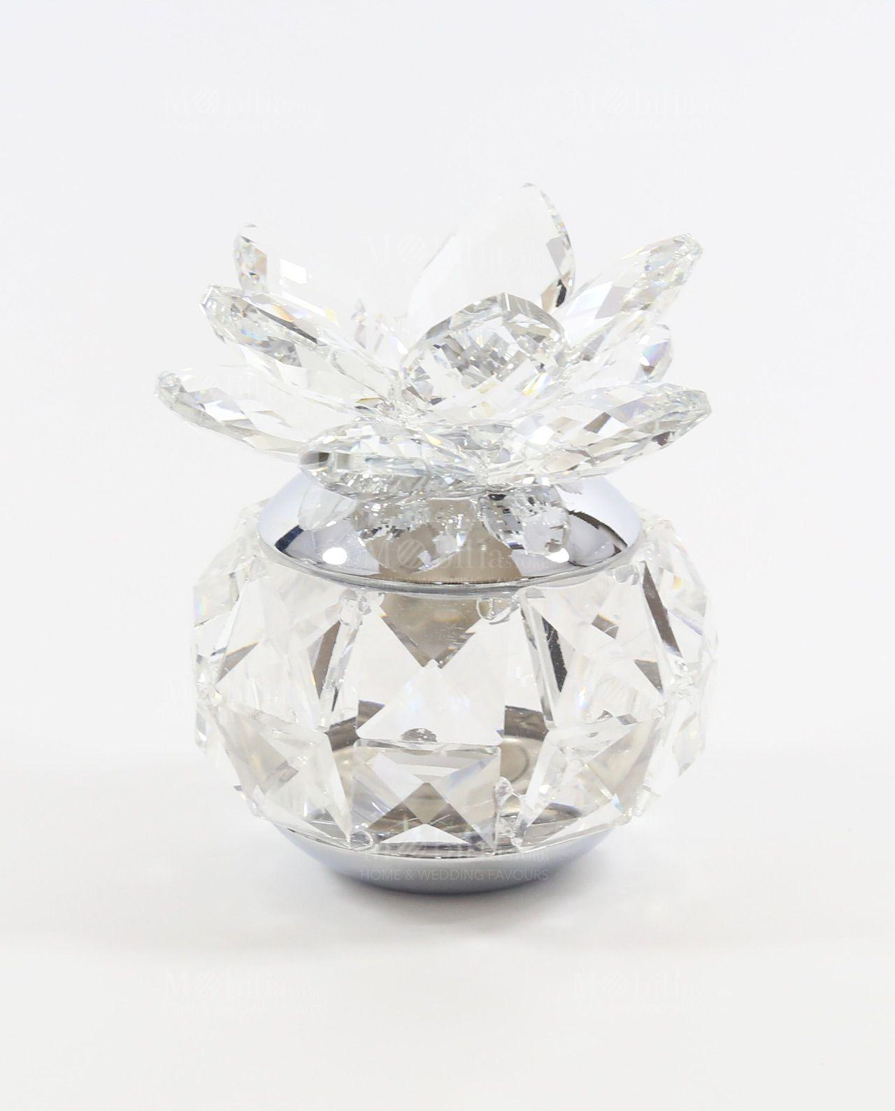 Bomboniere In Cristallo Per Matrimonio.Diffusori Cristallo Swarovski Fiore Di Loto Bomboniere Tufano