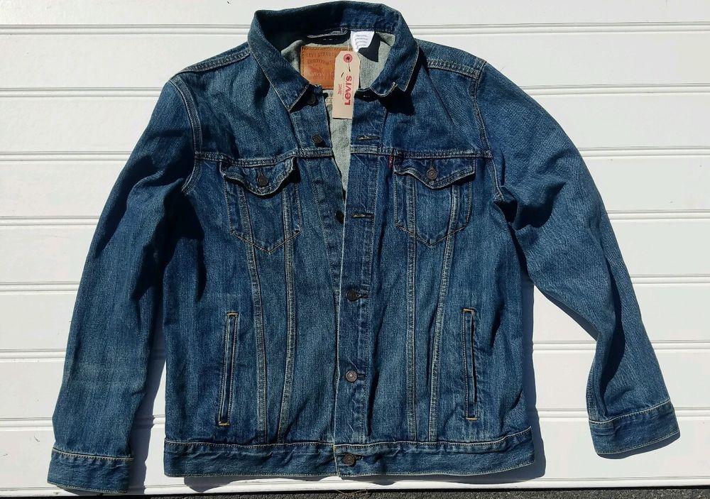 NWT Levi's The Trucker Jacket in Shelf Denim Jeans Mens XL 723340136 $90  MSRP #Levis