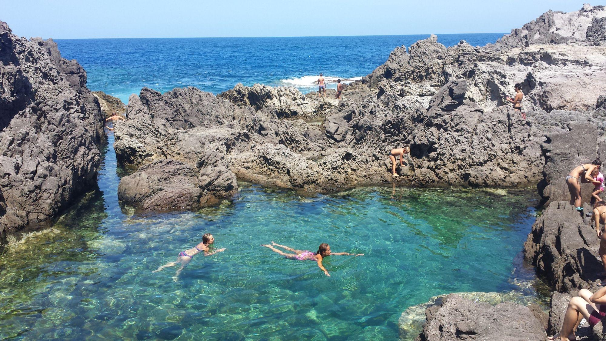 la piscina naturale alla localit Nasca sullisola di san