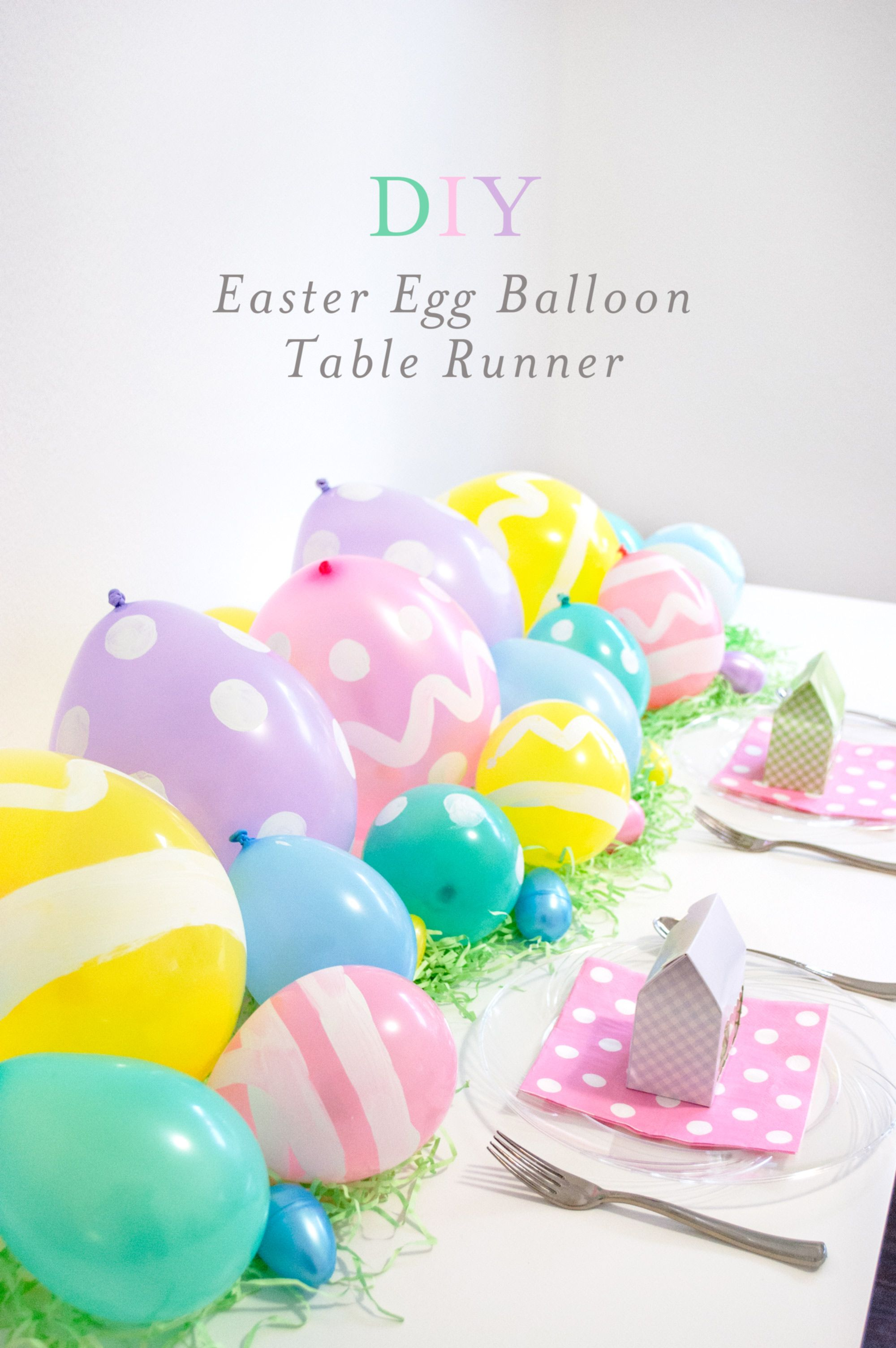 A Super Simple Easter DIY With Big Impact Egg Balloon Table Runner For Your