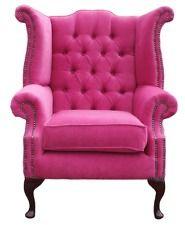 chesterfield armchair queen anne high back fireside wing chair pink rh pinterest com