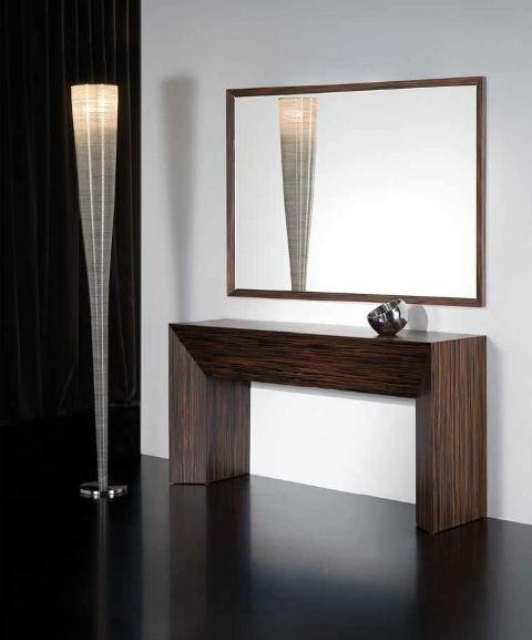 Recibidor en madera recibidores pinterest madera - Muebles consolas recibidores ...