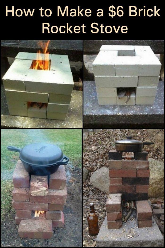 How to make a $6 brick rocket stove