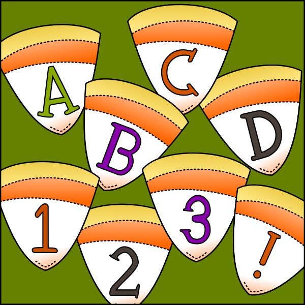 Printables Candy corn, Lettering, Letters, numbers