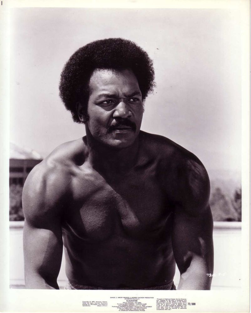 Jim Brown Slaughter >> Jim Brown Football Player Actor In Slaughter 1972 Jim