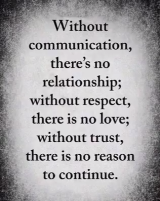 Photo of Without communication there's no relationship…