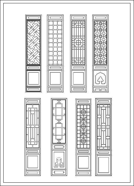 Chinese window lattice drawing in 2018 | Rampart ...