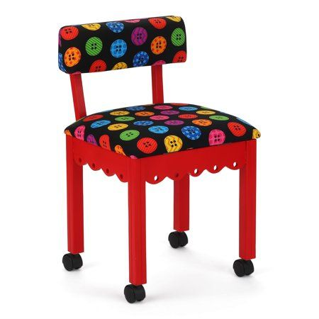 Arrow Sewing and Craft Chair with Storage, Portabl