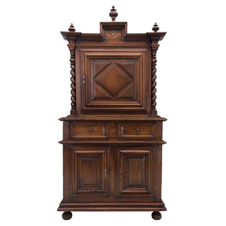 18th C French Louis XIII Style Deux-Corps or Cabinet