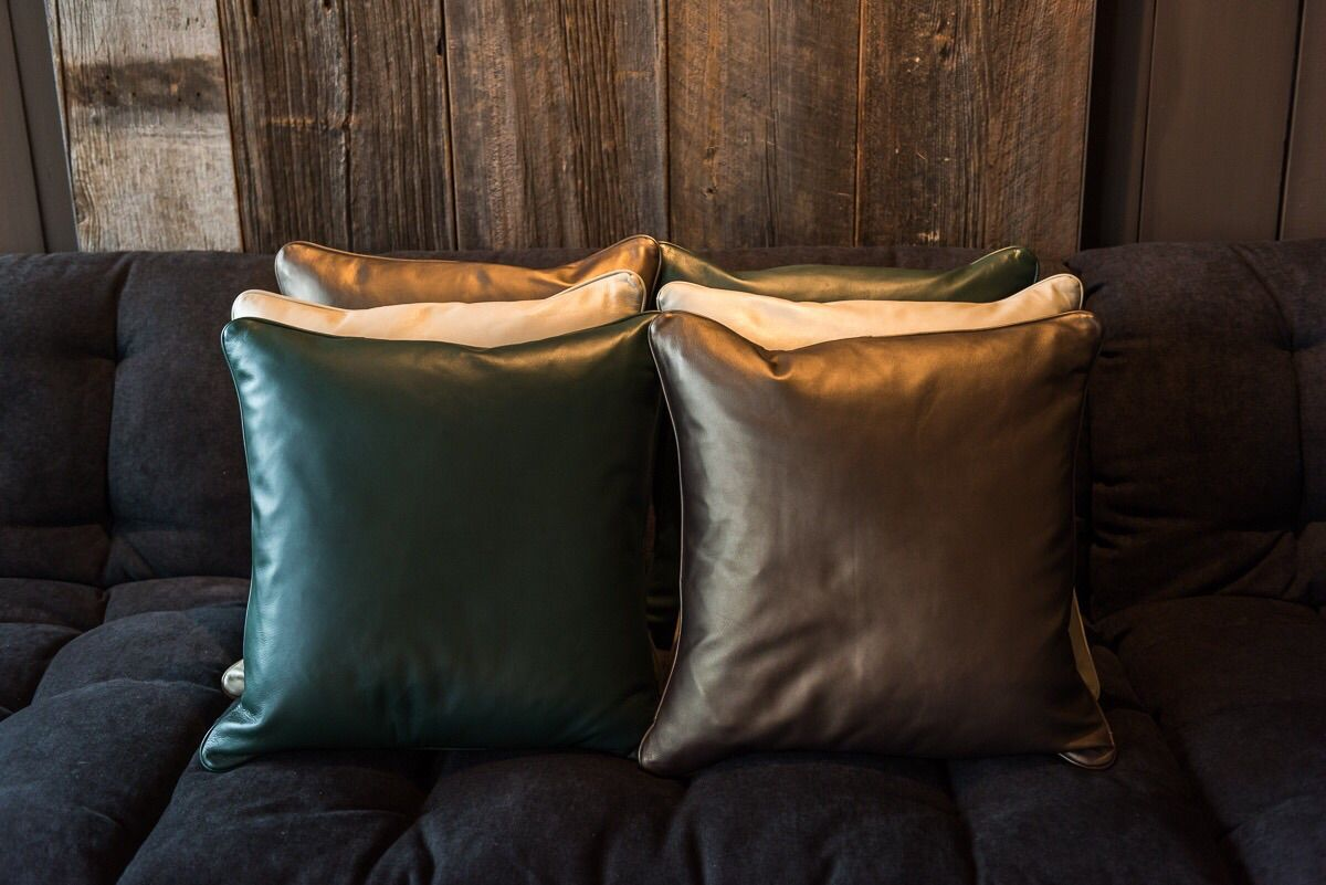 Leren, kussens, leather, pillows, inspiration, home, flake