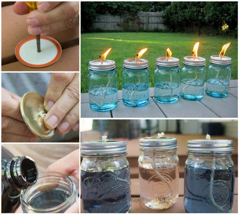 These DIY Citronella Candles are perfect for