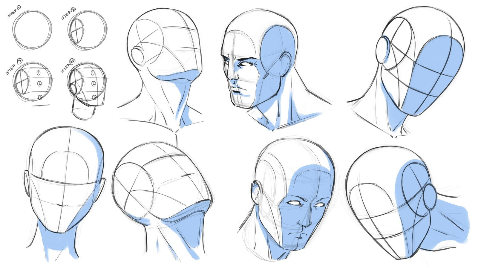 How To Draw Heads At Various Angles