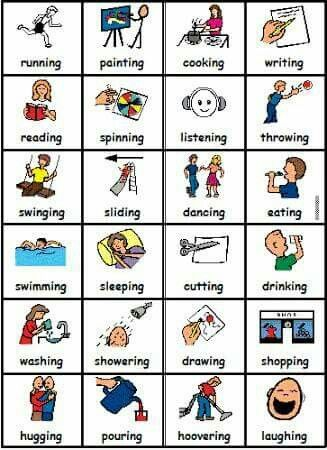 Action verbs anbugobi Pinterest Action verbs and Picture - action verbs