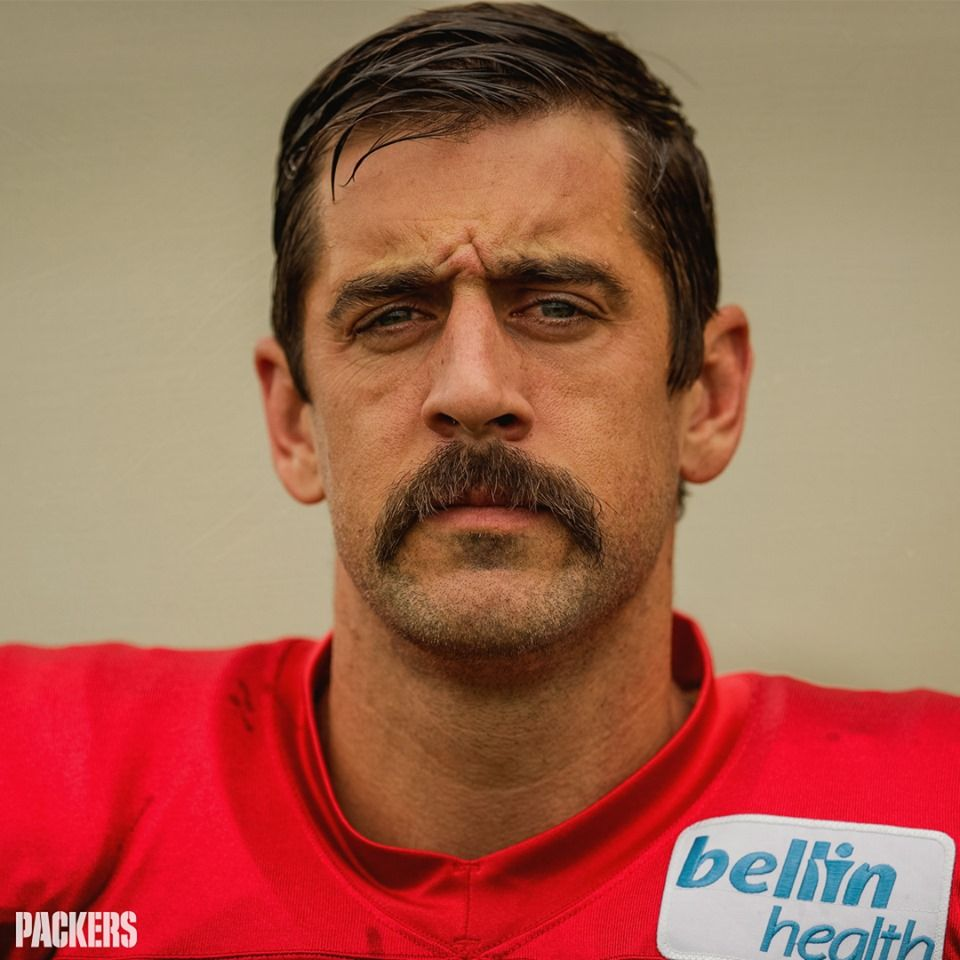 Pin By Mike Cardoso On Cheesehead In 2020 Aaron Rodgers Mustache Aaron Rodgers Growing A Mustache