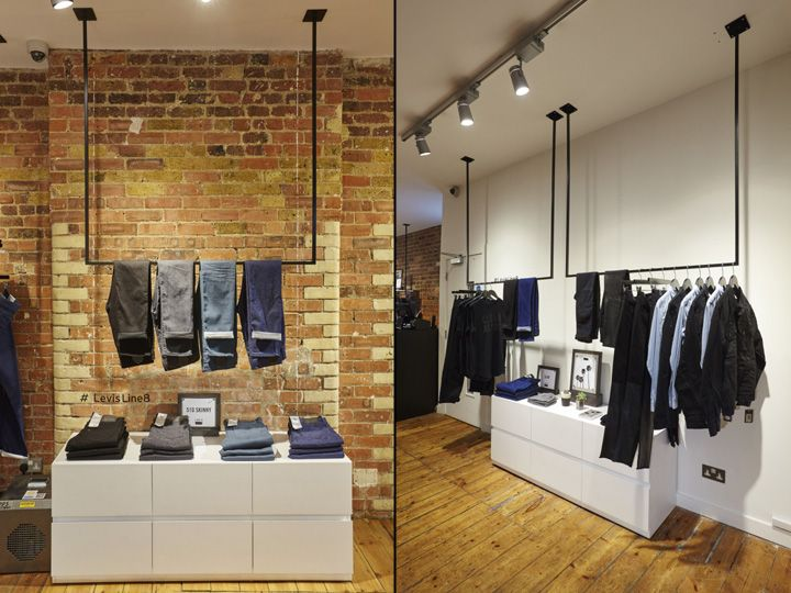 Levi's Line 8 Pop Up Shop on Charlotte Road by FormRoom, London UK pop up denim | Raw&Simple with my favourite BLUE