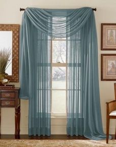 Slate Dusty Blue Sheer Panel Sale 4 99 Curtains Curtains