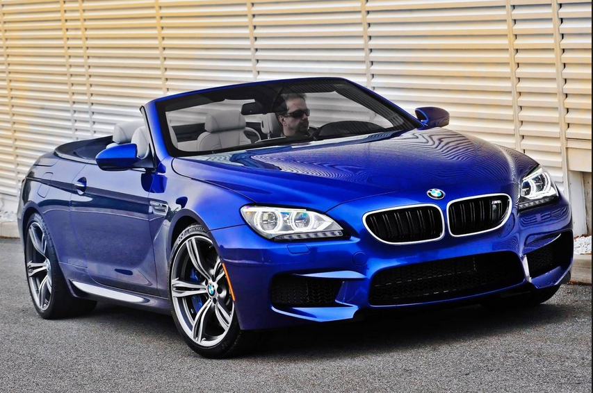 Blue Bmw M6 Convertible Coupe 2017