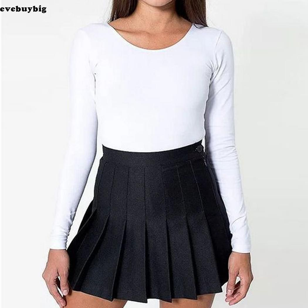 Women Lady Tennis High Waist Plain Skater Flared Pleated Short Mini Skirt Shorts With Images American Apparel Tennis Skirt Pleated Tennis Skirt Tennis Skirt Outfit
