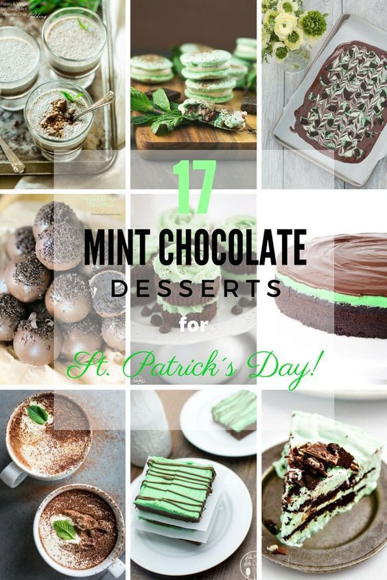 17 Mint Chocolate Desserts for St Patrick´s Day | Round Up compiled by FlavoursandFrosting.com