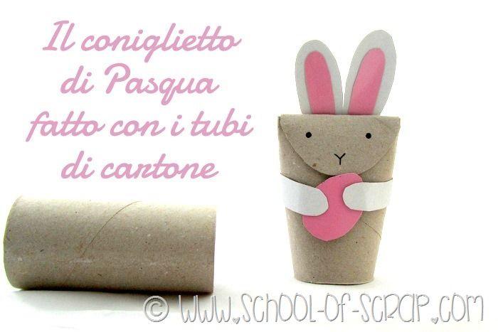 Bambini Pasqua ~ Lavoretti di pasqua per bambini il coniglietto fatto con i tubi