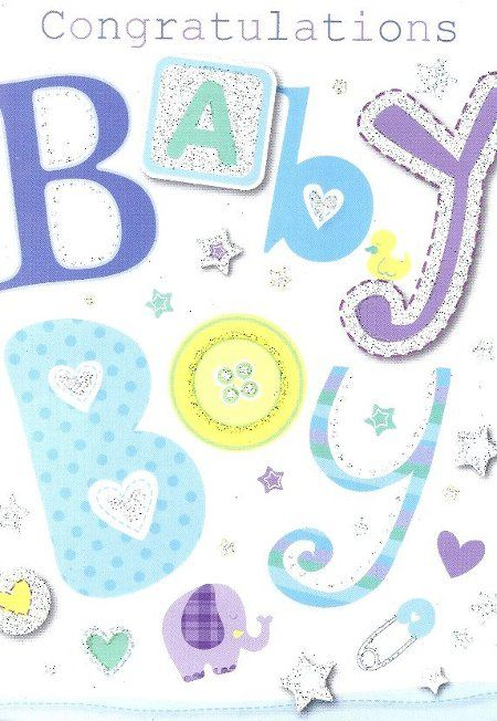 Congratulations on Your New Baby Boy Messages images baby cards