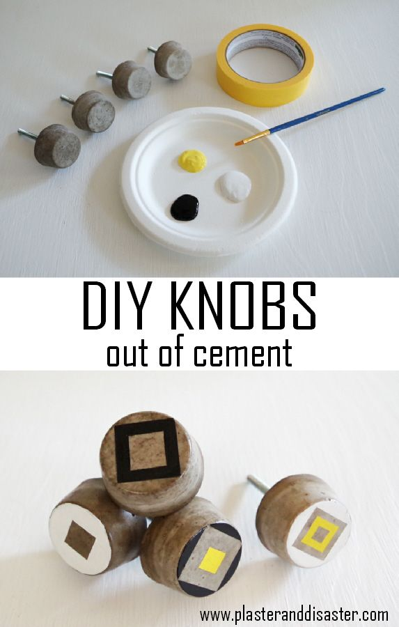 Make Your Own Cabinet Knobs Out Of Cement   Cheap And Customizable!    Plaster U0026