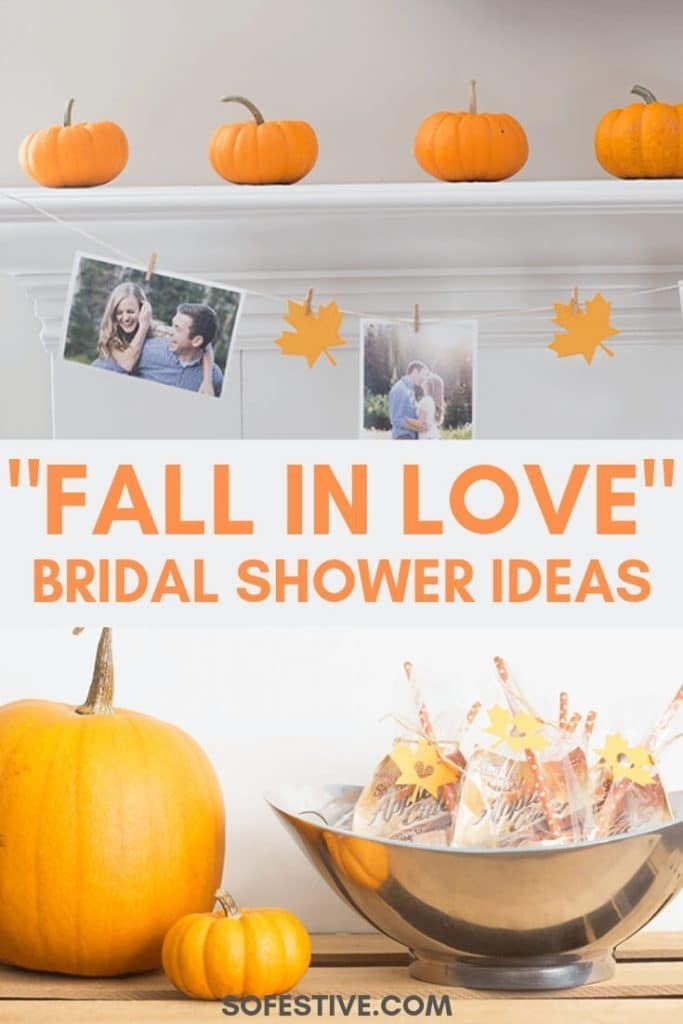 """Fallen In Love"" Fall Themed Bridal Shower Ideas 
