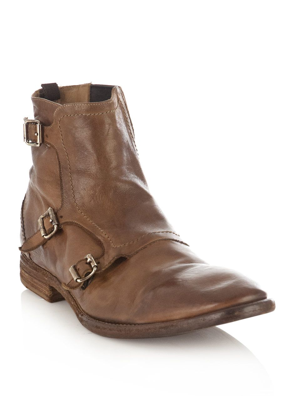 ALEXANDER MCQUEEN  Washed Chelsea boots (134278).