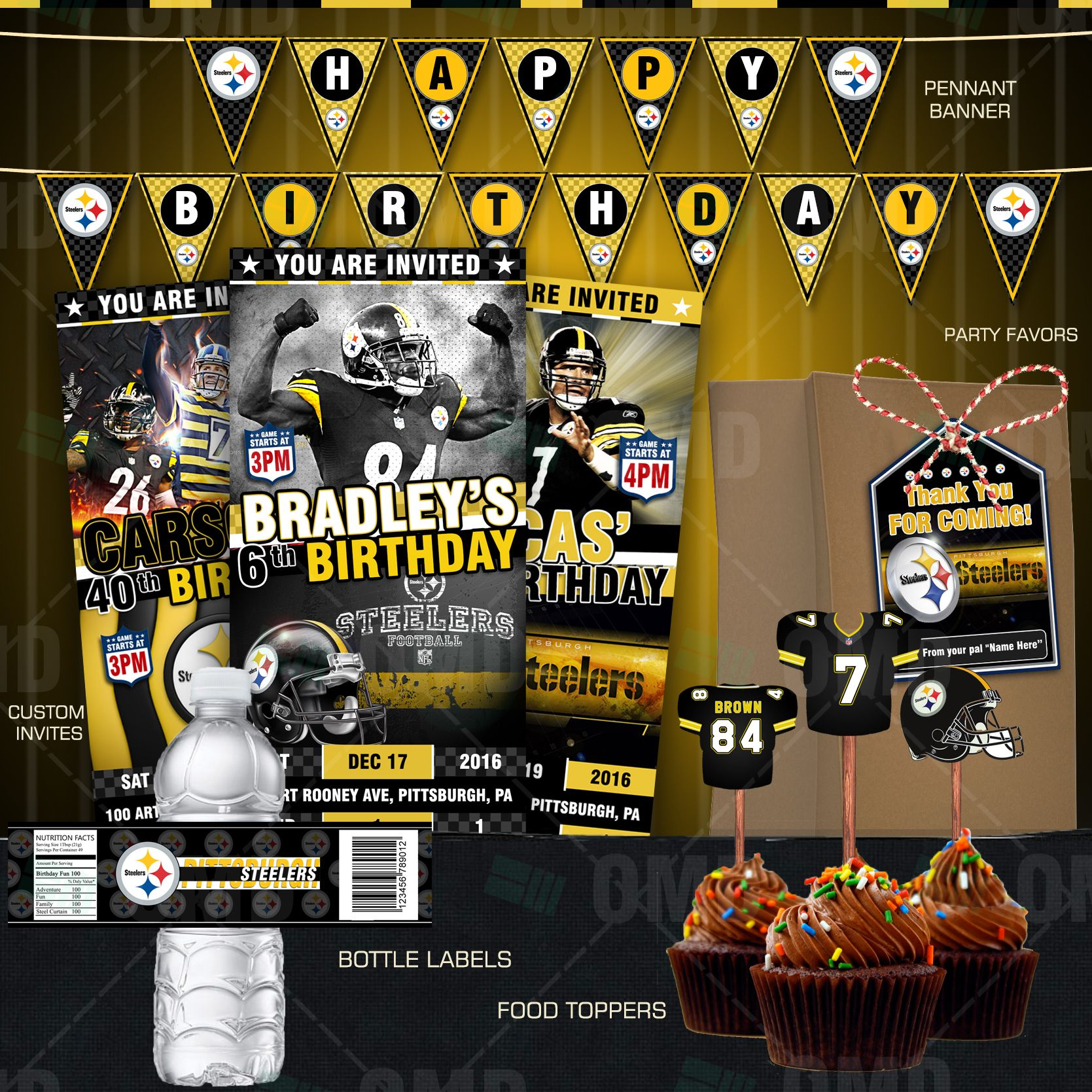 Pittsburgh steelers football ultimate party package great for sports pittsburgh steelers football ultimate party package great for sports fans of all ages birthdays filmwisefo Gallery