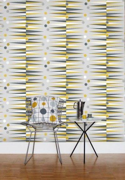 Backgammon By Mini Moderns Mustard Wallpaper Wallpaper Direct Mini Moderns Wallpaper Mini Moderns Mustard Wallpaper