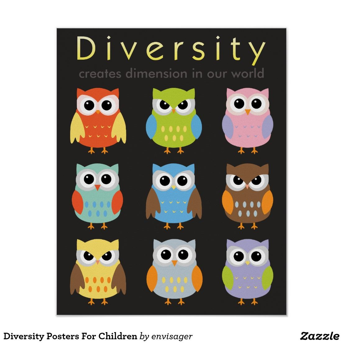 Zazzle poster design - Diversity Posters For Children