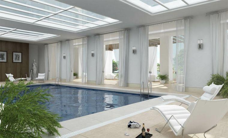 Construcción de piscinas dentro de la casa en 36 diseños jardin