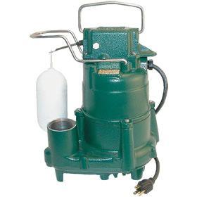 Zoeller M98 1 2 Hp Cast Iron Submersible Sump Pump W Vertical Float Switch Submersible Sump Pump Sump Pump Effluent Pump