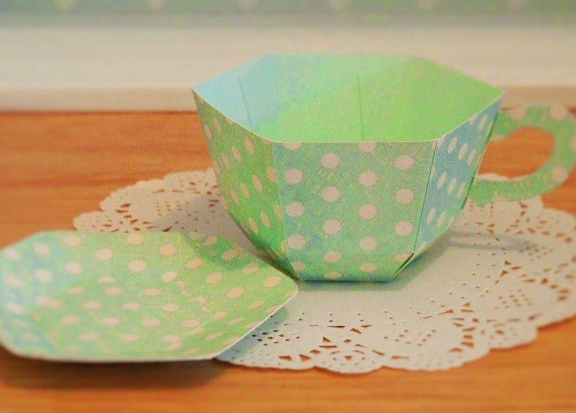 how to make paper mache teacups