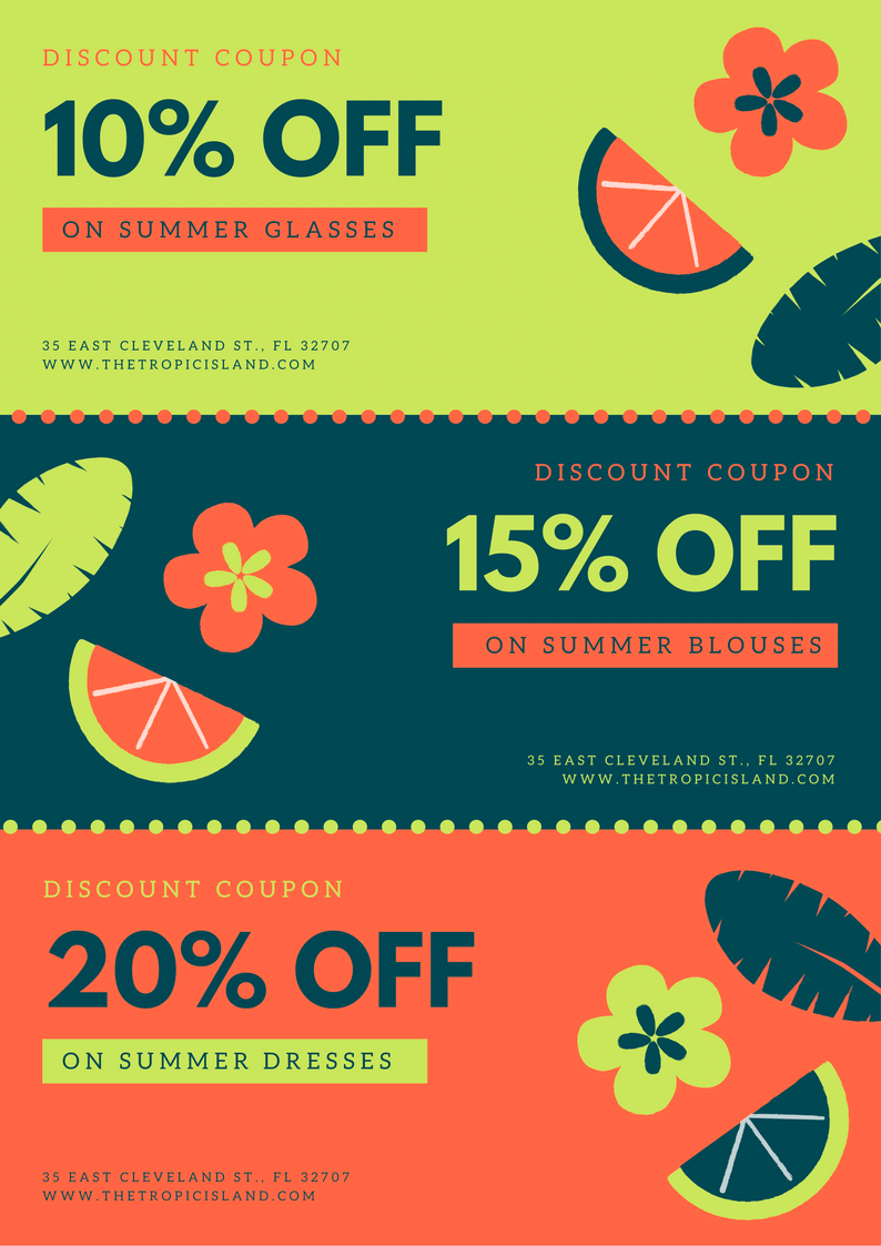 Idea by Canva Layouts on A4 Coupons Coupon design, Black