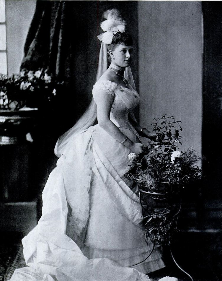"Princess Victoria Mary (""May"") of Teck age 20 in 1887"