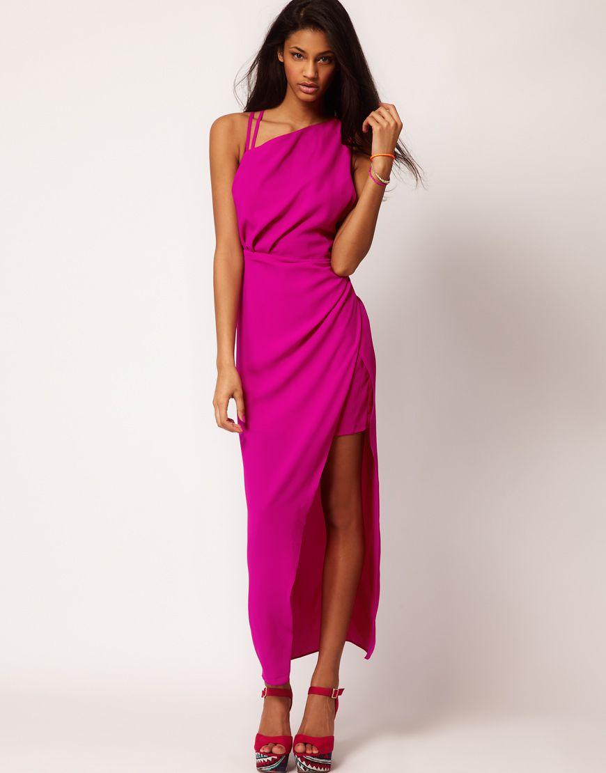 ASOS Mini Dress With Maxi Overlay | MODA | Pinterest