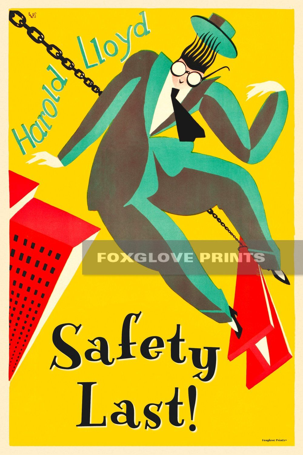 Safety Last Movie Poster Print Harold Lloyd Classic 1923