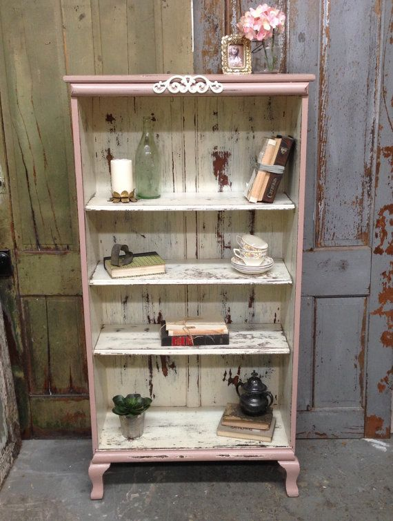 rosa shabby chic b cherregal malte distressed m bel antikes vintage store pinterest shabby. Black Bedroom Furniture Sets. Home Design Ideas