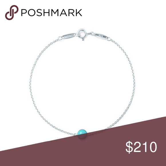 1060f801fdbb Tiffany s elsa peretti color by the yard bracelet Bracelet in sterling  silver with a turquoise cabochon. 7