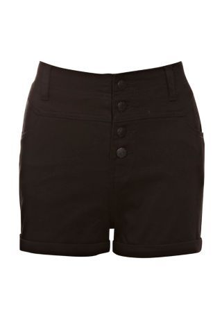New Look Mobile | Black High Waisted Shorts