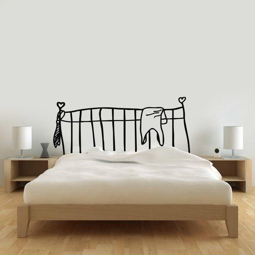 vinilo decorativo respaldo cama dibujado | Vinilos Cabeceras de cama ...