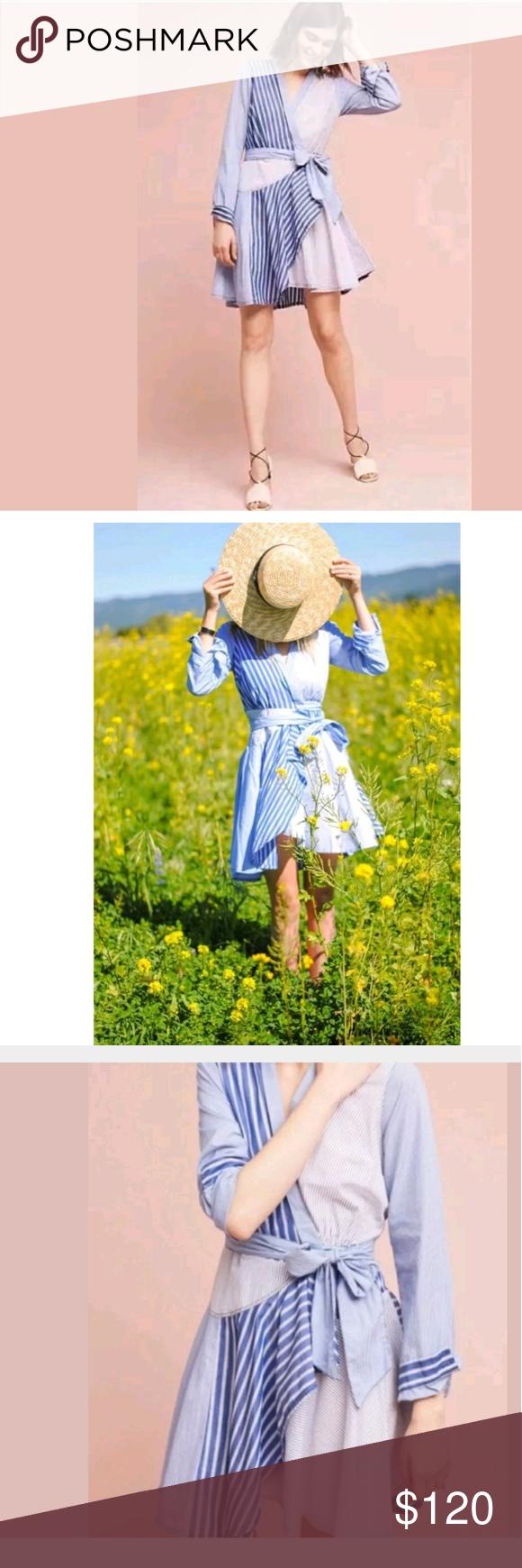 8be2b4f7654 Anthropologie Maeve Newport Stripe Shirtdress Sz 6 Anthropologie Maeve  Newport Striped Long Sleeve Shirtdress Size 5. Maeve Dresses Long Sleeve