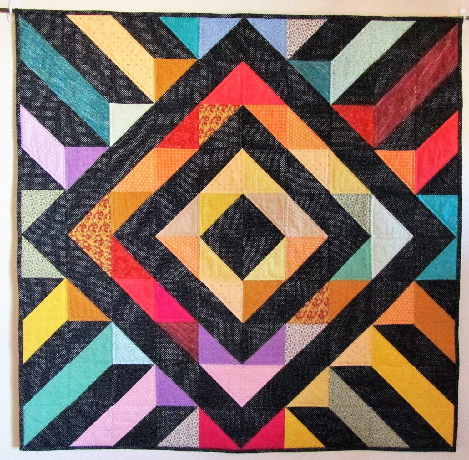 Steps and Diamonds A, Wall Hanging, Homemade Quilt for Sale ... : where to sell handmade quilts - Adamdwight.com
