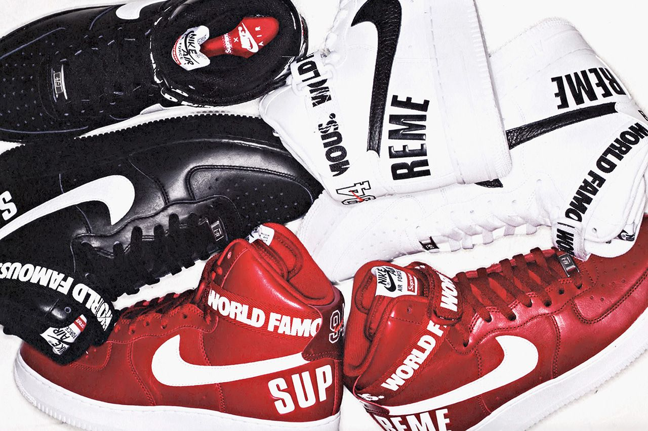 bc1d773a077a89 Image of A First Look at the Supreme x Nike Air Force 1 High Collection