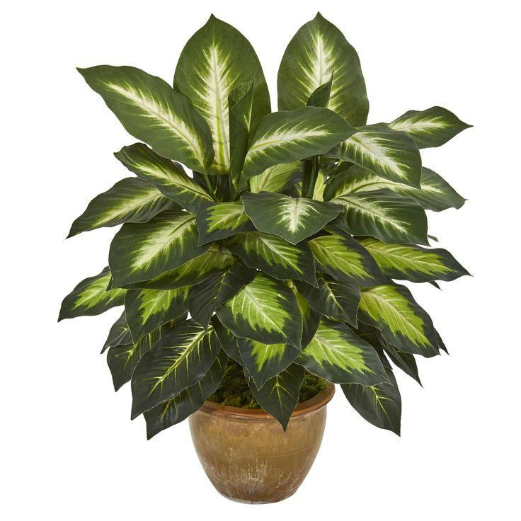 Artificial Plant Dieffenbachia Plant With Ceramic Planter