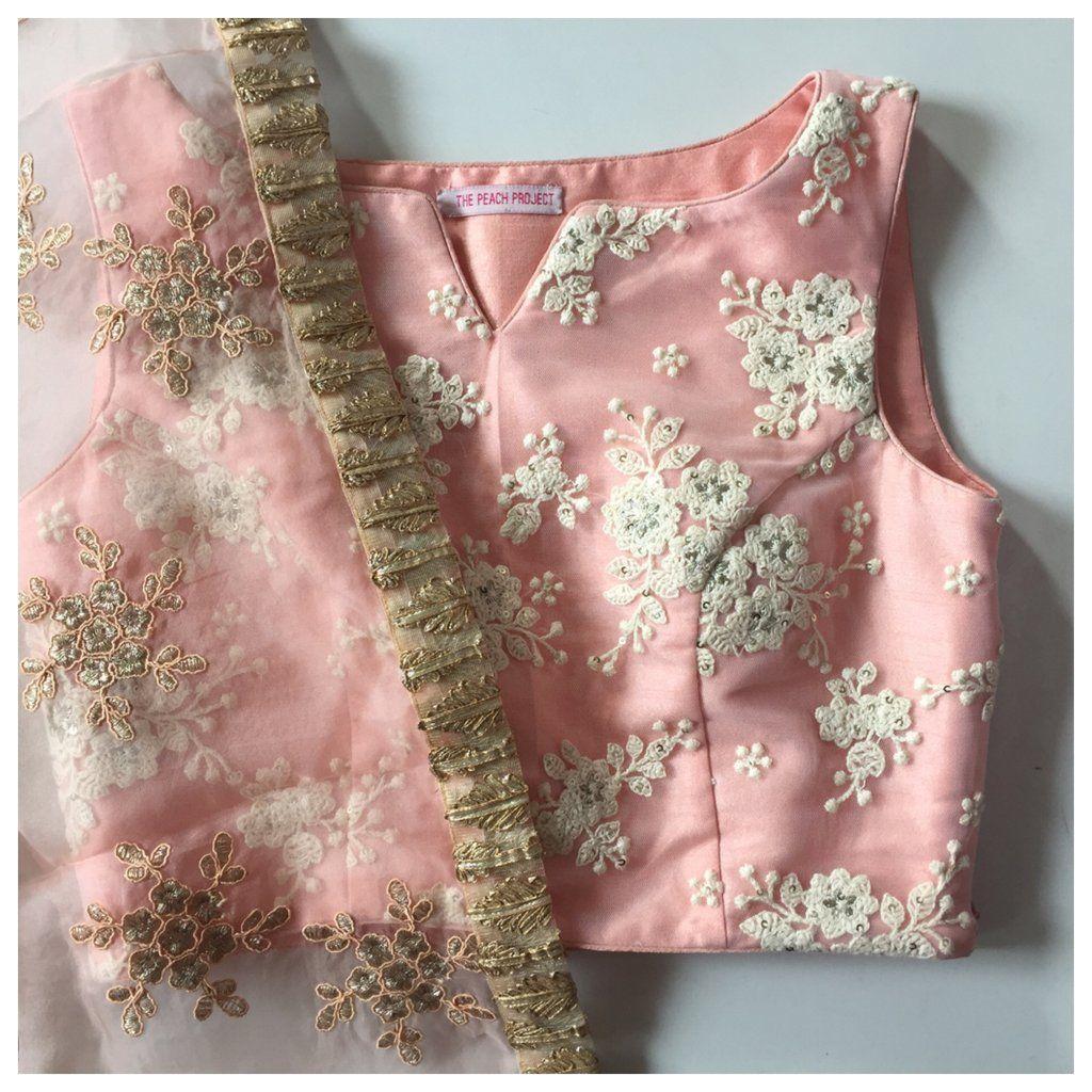 The Vintage Peach Crop Top   Saree   Pinterest   Modelo y Costura