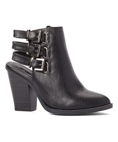 Loving this Black Dominic Buckle Bootie on #zulily! #zulilyfinds