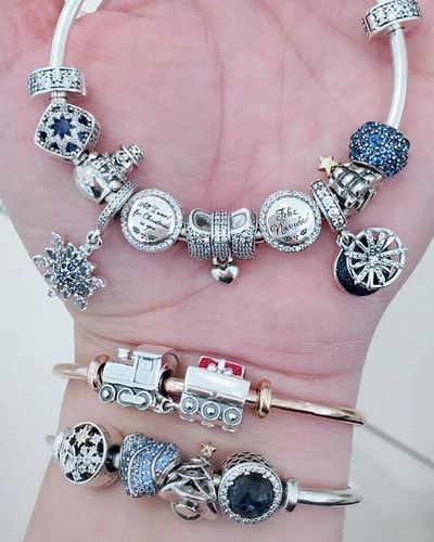 Christmas 2020 Charm All I Want for Christmas Charm, Clear CZ | Pandora bracelet