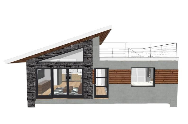 602 square foot 1 Bed 1 Bath With Roof Deck House Design Plans For Sale PDF & DWG Files